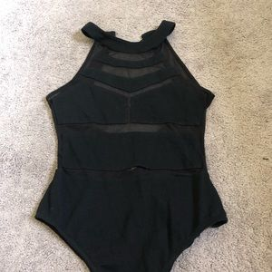 Urban Outfitters Black Mesh Bodysuit Size Small